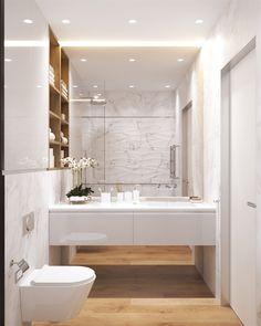 45 New Ideas Bathroom White Decor Inspiration Bathroom Design Small, Bathroom Colors, Bathroom Interior Design, White Bathroom, Home Interior, Modern Bathroom, Bathroom Ideas, Dream Bathrooms, Amazing Bathrooms