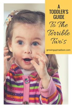 A Toddler's Guide to the Terrible Twos | Growing up Madison
