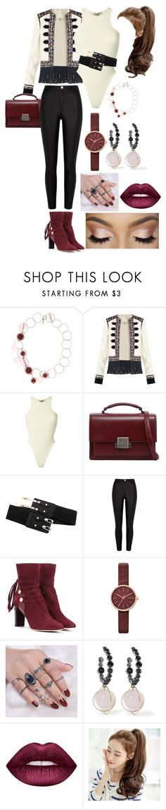 """Full Set"" by joeannamarii on Polyvore featuring Marni, Talitha, Yeezy by Kanye West, Yves Saint Laurent, River Island, Jimmy Choo, Skagen, Victoria's Secret, Lime Crime and polyvoreeditorial"