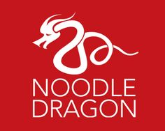 Noodle Dragon Logo design - Ideal for Food and Beverage business or Restaurant. Chinese Dragon formed with a Noodle. | Designed by Asitha Amarakoon
