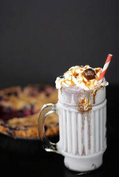 Blueberry Crumb Pie Milkshake