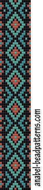 - Схемы для бисероплетения / Free bead patterns -: Схема браслета - ткачество - bead loom pattern - bracelet