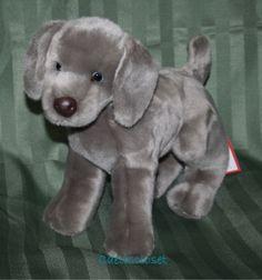 Douglas Plush Hans WEIMARANER Gray Grey Stuffed Puppy Dog Cuddle Toy