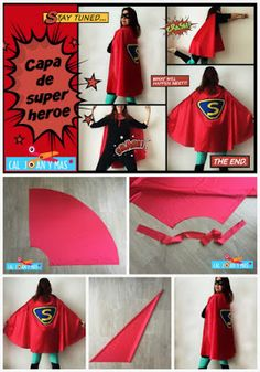 Cal Joan y más: CAPA DE SUPERHEROE (MONOGRÁFICO DE CAPA 3) Diy Superhero Costume, Superhero Kids, Baby Halloween Costumes, Fantasy Play, Monster Coloring Pages, Capes For Kids, Cape Pattern, Kids Class, Dress Up Outfits