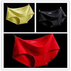 8711b97b3c (3pcs lot)High Quality Sexy Underwear Women Seamless Panties Tanga Sexy  Briefs Silk