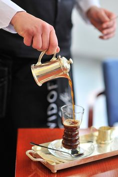 Radium Palace - flambeed coffee