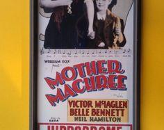 ON SALE Vintage Mother Machree Framed Theater Print -    Edit Listing  - Etsy