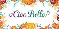 Ciao Bella (50% discount, from 6,50€)   https://fontsdiscounts.com/ciao-bella-30-discount?utm_content=buffer03b8a&utm_medium=social&utm_source=pinterest.com&utm_campaign=buffer
