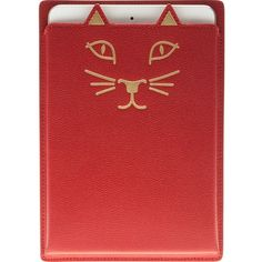 Charlotte Olympia 'Feline' iPad case ($225) ❤ liked on Polyvore featuring accessories, tech accessories, red, ipad sleeve case, cat ipad case, charlotte olympia, ipad cover case und red ipad case