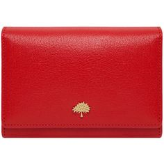 Tree French Purse Bright Red Shiny Goat ($470) ❤ liked on Polyvore featuring bags, handbags, clutches, bolsas, purses, accessories, leather handbag purse, red clutches, genuine leather handbags and real leather handbags