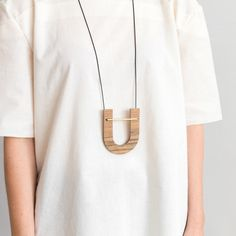 Artifact Wood Necklace by WKNDLA | http://adornmilk.com