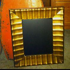 Super easy chalkboard! Large ten dollar mirror from Kirklands and chalkboard spray paint!