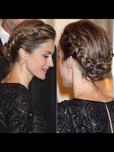 Love the hair of the Queen Letizia!