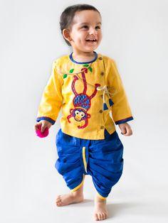 a98861936a0ec Buy Chimp Dhoti Kurta Set Boys Kurta Design, Kids Ethnic Wear, Indian Boy,