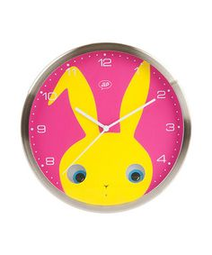 Peekaboo Rabbit Wall Clock