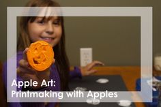 Apples with jack-o-lantern shapes cut into it, paint and some paper makes a fun Halloween art project.