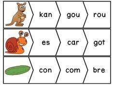 Les syllabes 24 puzzles de 3 syllabes french syllables cp pinterest syllable - Couper les mots en syllabes ...