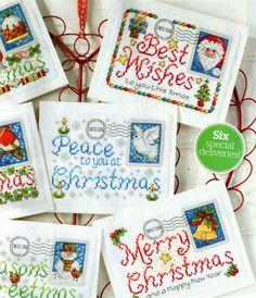 CHRISTMAS ENVELOPES cross stitch charts.  Gallery.ru / Фото #1 - С Рождеством - DELERJE