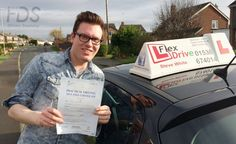 Driving Lessons in Wellingborough and Earls Barton:  Congratulations to Adam Gage who passed his practical Driving Test 1st time today the 25th January 2016 – with only 2 driving faults. Very well done and best wishes from your Driving Instructor Steve and all of us here at Flexdrive Driving School.  Adam has been having driving lessons in Wellingborough and Kettering with Flexdrive Driving School. #drivinglessons #learntodrive #wellingborough