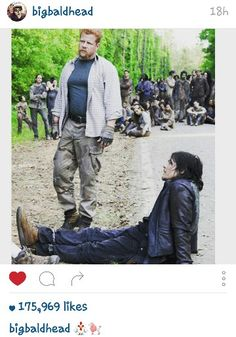 From Norman Reedus with Michael Cudlitz from @bigbaldhead on instagram.