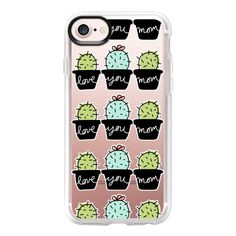 Love You Mom - Cactus - iPhone 7 Case And Cover ($40) ❤ liked on Polyvore featuring accessories, tech accessories, iphone case, iphone cover case, iphone cases, clear iphone case and apple iphone case
