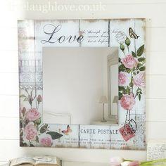 Decoupage en marcos de espejos y portaretratos