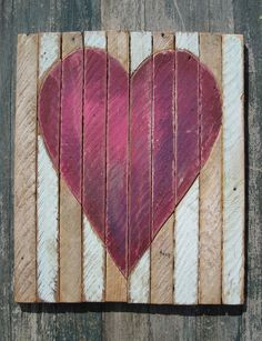 wall decor - pallet art - turns board other direction