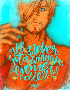 I'll never hit a woman/Sanji/One piece