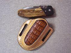Rowe's Leather Goods Belt Slider Folding Knife Sheath