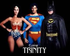 Wonder Woman/Linda Carter - Superman/Christopher Reeve - Batman/Michael Keaton