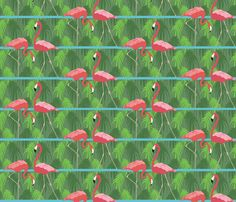 Zoo Flamingoes fabric by colour_angel on Spoonflower - custom fabric