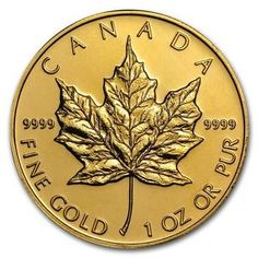 1 oz Gold Canadian Maple Leaf Coin Random Year BU - SKU Best deal for Us coins , Price Coin collecting bargen , Rare coins best offer , Old coins collecing bargen , Coin collectors collectors 1 Oz Gold Coin, Gold Coin Price, Canadian Maple Leaf, Canadian Coins, Bullion Coins, Gold Bullion, Gold Eagle Coins, Gold Coins, Maple Leaf Gold