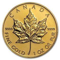 Buy 1 oz Gold Canadian Maple Leaf  Random Year  SKU #87709
