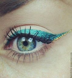 glitter eyeliner blue eyes Trends for colored eyeliner in makeup