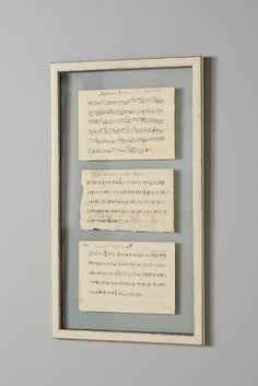 Anthropologie Sheet Music Vintage Wall Art #anthrofave