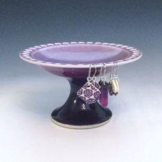 Purple Earring Holder Porcelain Earring by AllisonGlickCeramics