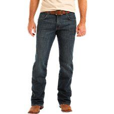 Wrangler\u00ae Retro\u00ae Relaxed-Fit Bootcut Jeans for Men deliver a modern take on an authentically Western pair of Wrangler jeans. Made for country rock stars, rodeo ropers, and those who just happen to have great taste, these men's retro bootcut jeans are a versatile style made to suit any occasion. They offer a comfortable, mid-rise, relaxed fit through the seat and thigh, and a wider leg opening that fits perfectly over your favorite pair of boots. These men's relaxed-fit bootcut…