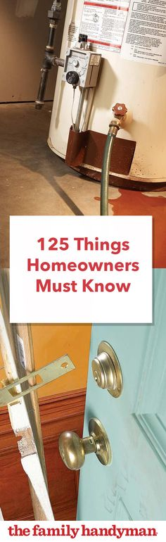 125 Things Homeowners Need to Know