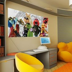 The Muppets Music_FTDH-0610 http://papeldeparedeonline.com/2013/03/21/murais-panoramicos-disney/