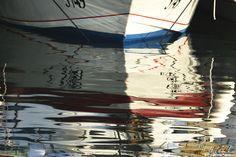 """Waterline"" H Hugh Miller | #photography #water #boat #anchored #reflection #sea #art #artwork #artist"