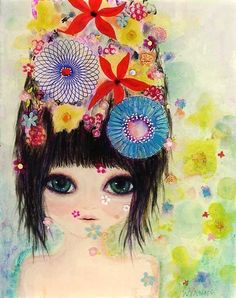 raining flowers by Wyanne on Etsy, $22.00