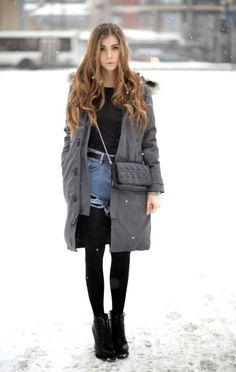 25 The Most Cutest Winter Outfits for Teen Girls - Pinmagz Stylish Winter Outfits, Winter Outfits Women, Casual Outfits, Fashion Outfits, Winter Outfit For Teen Girls, Winter Outfits For School, Outfits For Teens, Cute Coats, New Fashion Trends