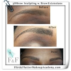 Extensions Before After, Eyebrow Extensions, Flirting, Eyebrows, Sculpting, Hair, Eye Brows, Sculpture