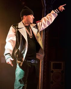French Montana on tour in one of his Pelle Pelle leather jackets