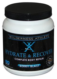 Wilderness Athlete Hydrate and Recover Beverage Mix Tub, You deserve more than sugar and water!  Yep, we said it.  For too many years now, we have been led to believe that a little bit of sugar and salt thrown into a bottle of water (let's not forget the fa..., #Health, #Shakes & Powders