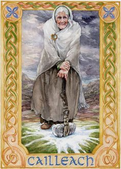 In Irish and Scottish mythology the Cailleach is a hag goddess concerned with creation harvest the weather and sovereignty In partnership with the goddess Brigid she is a. Irish Celtic, Celtic Art, Celtic Symbols, Samhain, Fantasy, Symbole Viking, Celtic Mythology, Celtic Goddess, Legends And Myths