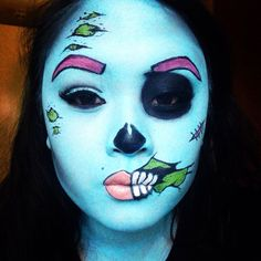 Halloween look! #halloween #zombie #pinup #facepaint