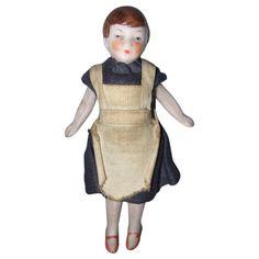 Antique All Bisque miniature Dollhouse Maid