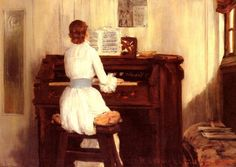 William Merritt Chase (1849-1916) Mrs. Meigs at the Piano Organ