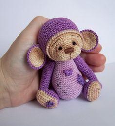 Амигуруми: Маленькая обезьянка. Бесплатная схема для вязания игрушки. FREE amigurumi pattern. #амигуруми #amigurumi #схема #pattern #вязание #crochet #monkey